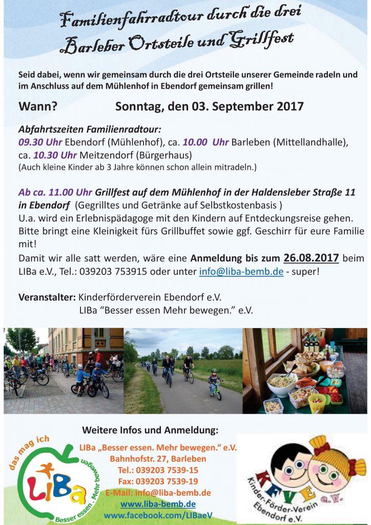Familienfest und Radtour aktuell