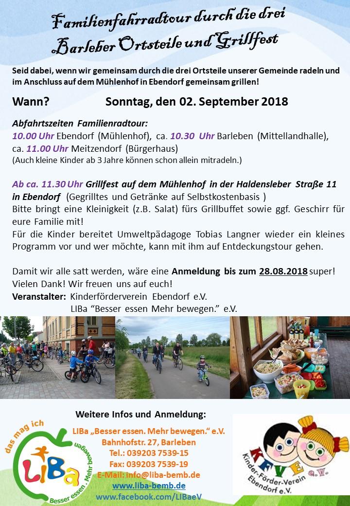 Familienfest und Radtour2018
